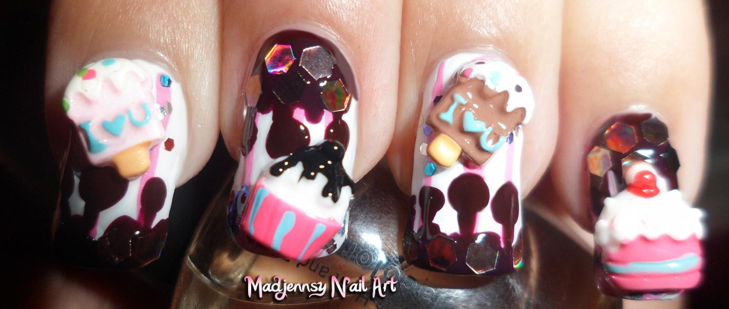 10pcs cute sweet cup cake ice lolly resin 3d nail art stickers cupcake ice cream reloaded 3d nail art prinsesfo Gallery