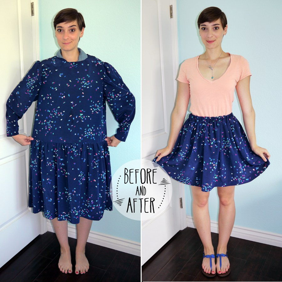 dress-to-skirt-refashion-tutorial_before-and-after.