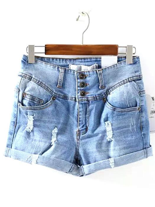 light-blue-high-waist-three-buttons-bleached-ripped-denim-shorts-22001528-525x700-1.