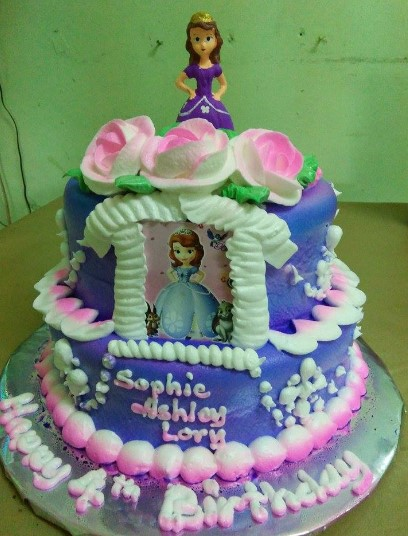 Sofia the first cake.