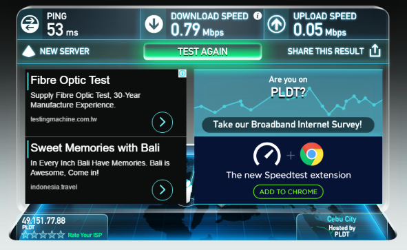 speedtest very weak.
